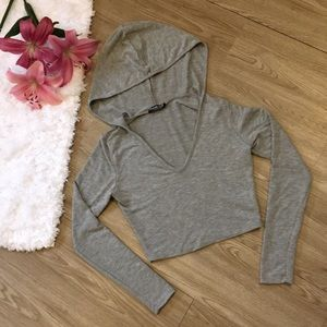 Fashion Nova Crop Top With A Hood